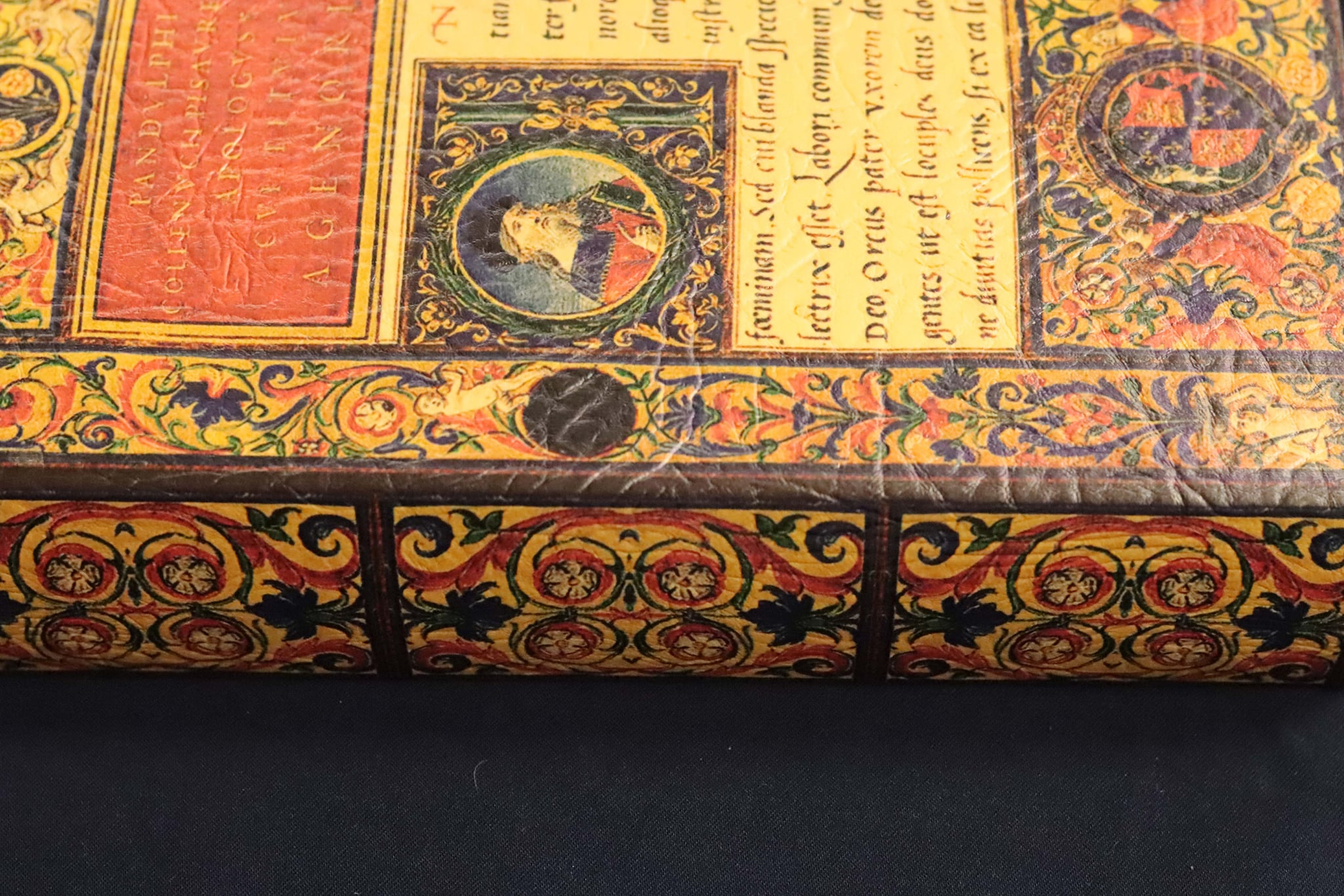 book with medeival looking images